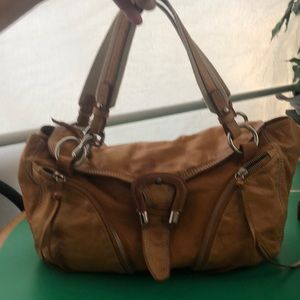 Francesco Biasia Tan Leather Shoulder Handbag